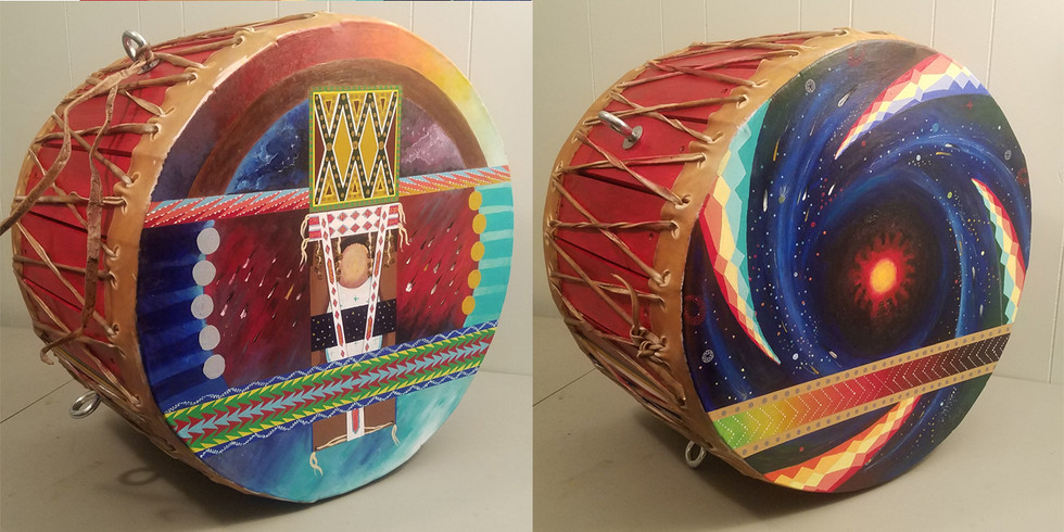 """Little Stars from the Sky Lodge"" Osage Drum"