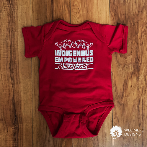Indigenous Empowered Sweetheart - Onesie - RED