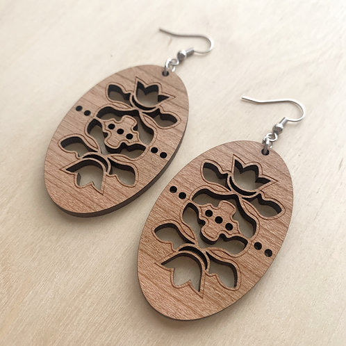 Spring Floral - Cherry Wood