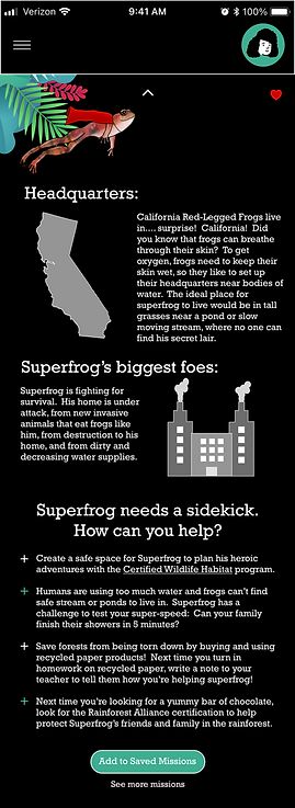 Information Screen - Superfrog