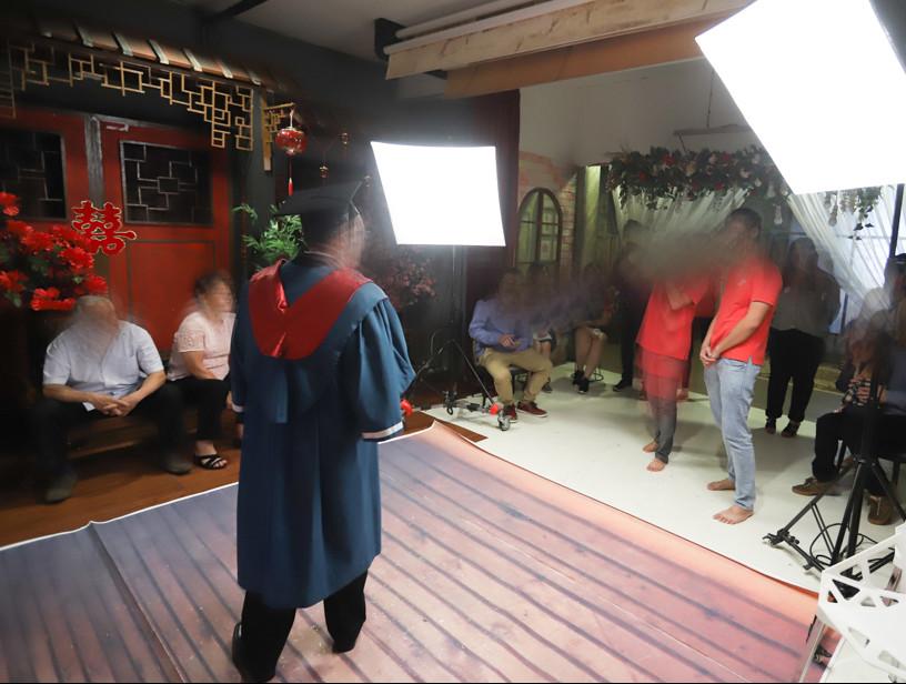 Studio shooting in grogress