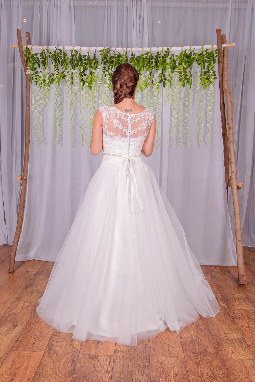lace a line wedding dress princess style