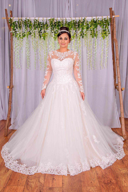 long sleeve lace wedding dress royal wedding style
