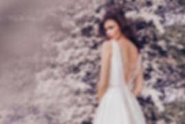 Wedding dress silk open back bridal belts high neck northampton