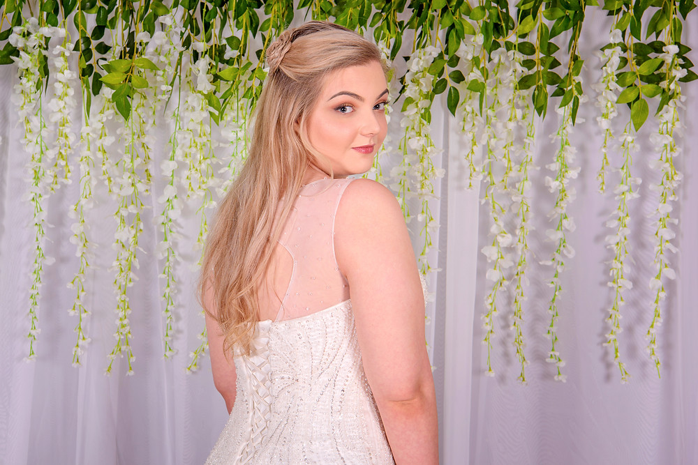 modern sparkly wedding dress