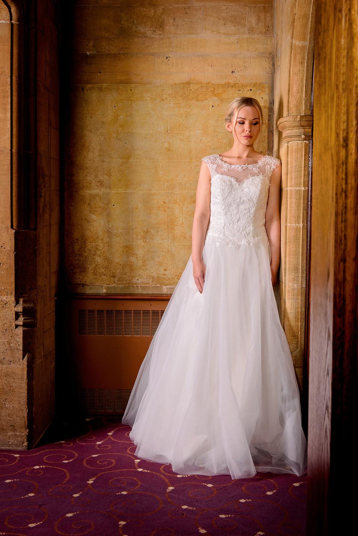 soft chiffon lace wedding dress