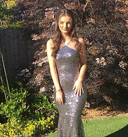 Silver gun metal sequin tight mermaid dress
