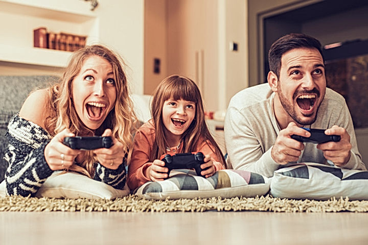 Parents-play-video-games-with-their-chil