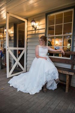 bride out front