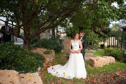Bride & Groom in Garden