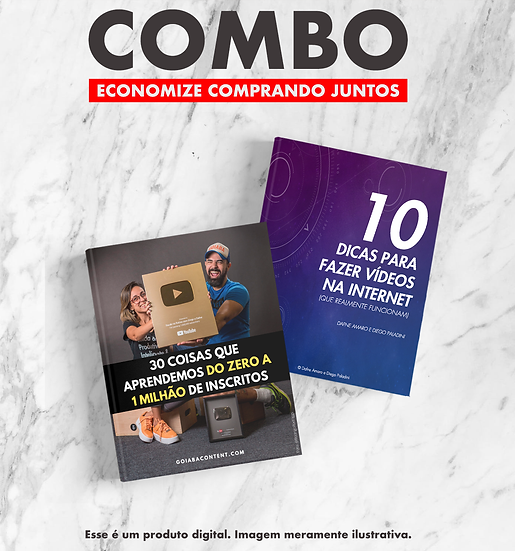 COMBO: 2 Ebooks para te ajudar a criar conteúdo