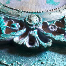 Metallic Paste to create a verdigris look