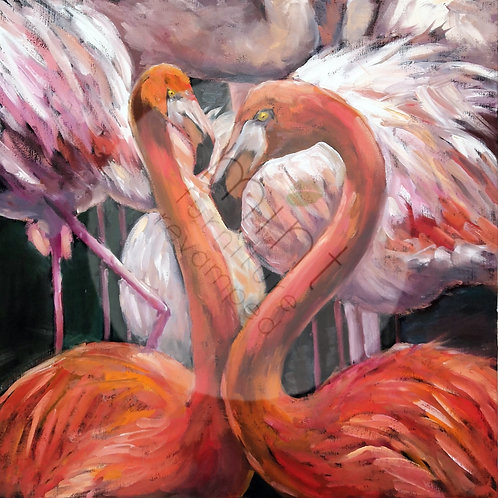 Mint Flamingo Decoupage