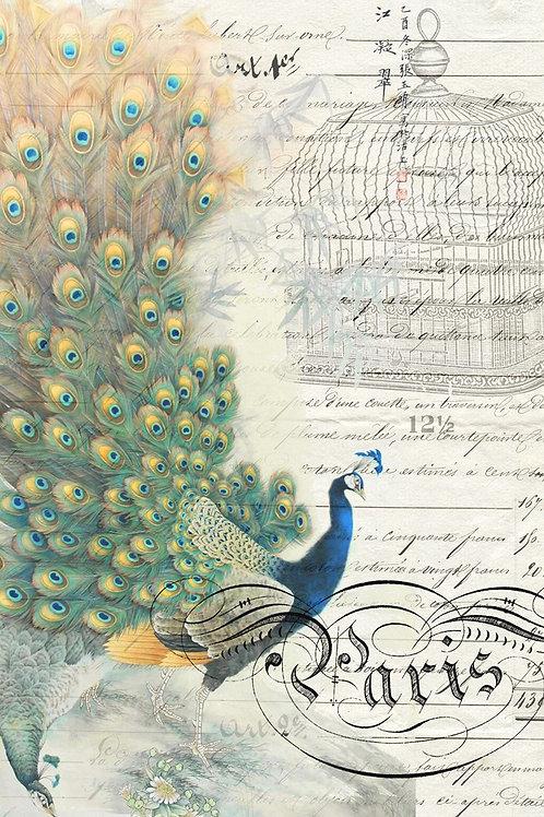 Roycycled Treasures Peacock Ephemera - Left