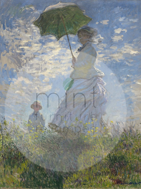 Mint Lady with a Parasol Decoupage