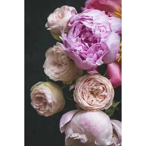 Mint Moody Florals Decoupage