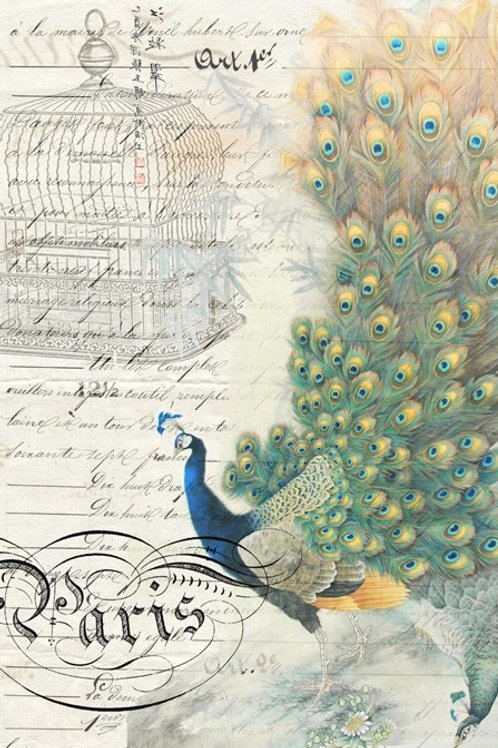 Roycycled Treasures Peacock Ephemera - Right