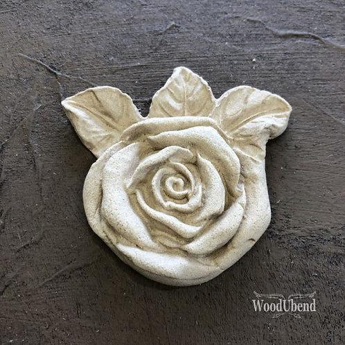Three Leaf Rose 5.5 x 6 cm WUB 0465