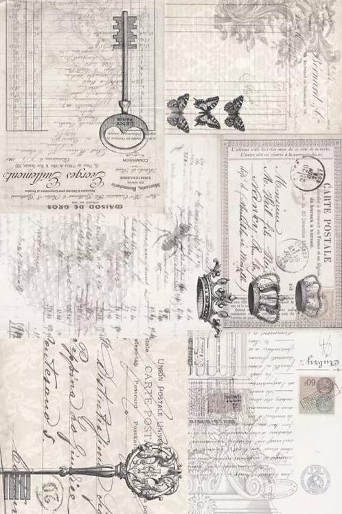 Roycled Treasures Ephemera Collage Decoupage Paper