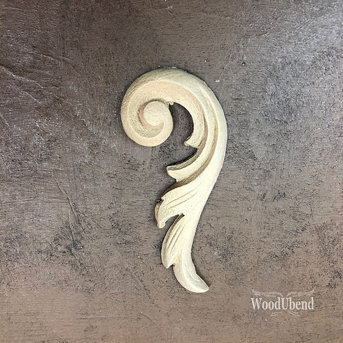 Right Scroll 9.8 x 4.4 cm WUB0360