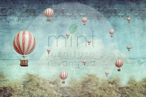 Mint Balloons Decoupage