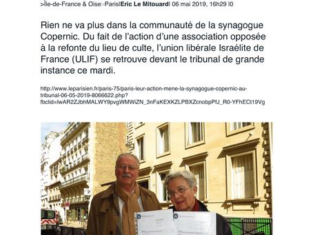 Paris : leur action mène la synagogue Copernic au tribunal