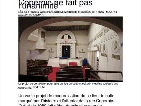 Paris : la démolition de la synagogue de la rue Copernic ne fait pas l'unanimité