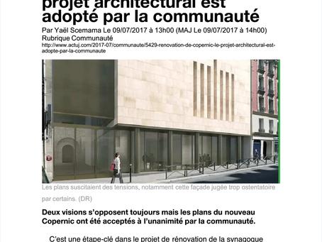 Rénovation de Copernic : le projet architectural est adopté par la communauté