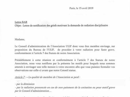 Menace de radiation de membres de l'ULIF-Copernic pour leur action auprès de l'APPC