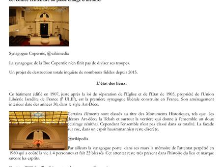 La Synagogue Copernic: un dilemme