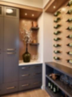 Custom butlers pantry wine storage