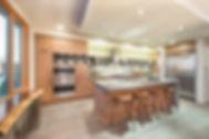 custom tansitional oak cabinets