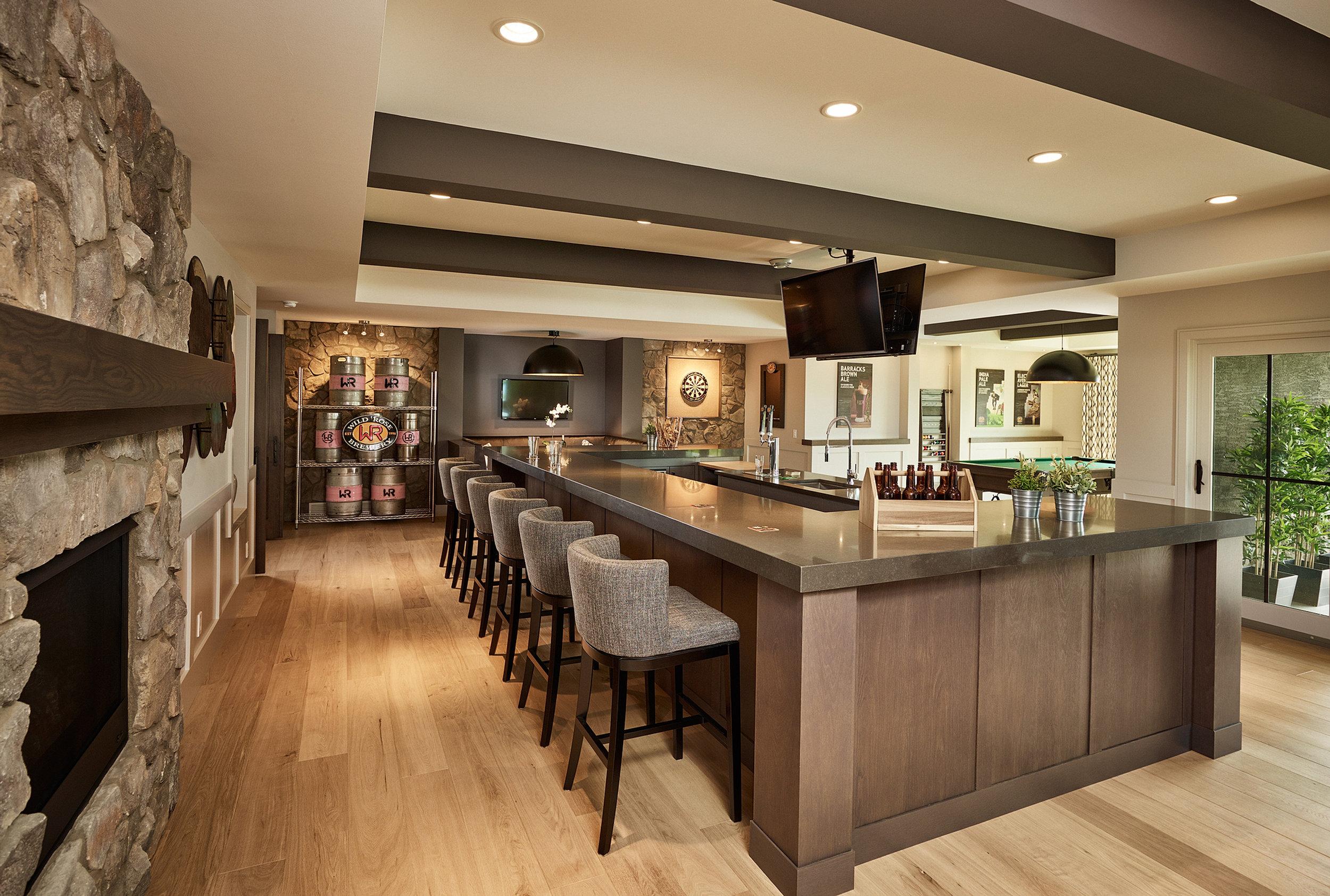 Wetbar Elegant Woodwork Calgary Custom Cabinets Closets And