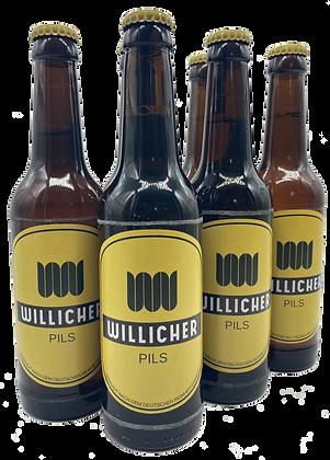 6 x 0,33 l Willicher Pils (4,9 % vol.)