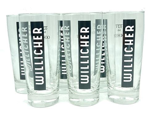 6 x 0,2 l Willicher-Gläser