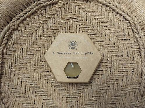 Beeswax Tea-lights (x 4)