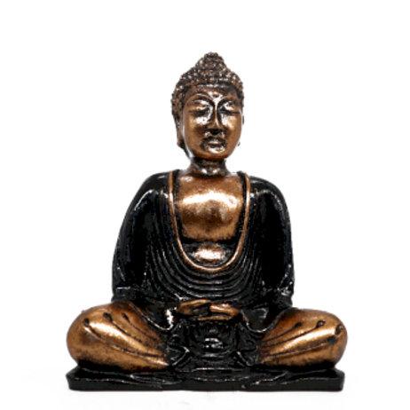 Hand Painted Buddha - Black & Gold