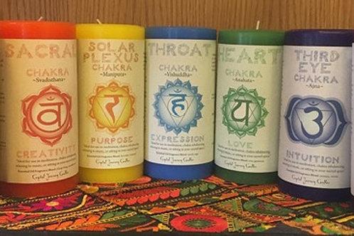 Crystal Journey - Chakra Candles (Pillar)