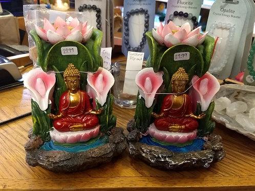 Buddha and Lotus Flower - Backflow Burner