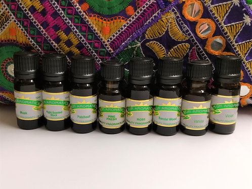 Sun Aromatics 10ml - Aromatherapy Oils (Assorted Fragrances)