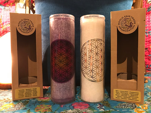 Flower of Life Candles