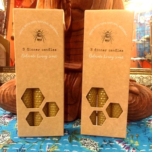 Natural Beeswax - Dinner Candles