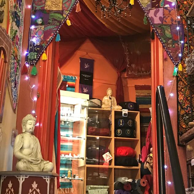 Doorway into the Moroccan room