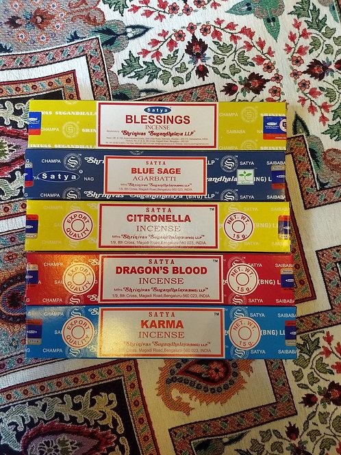 Satya Incense Sticks (A - L)
