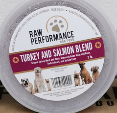 Turkey and Salmon Blend 1lb tubs