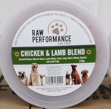 1 lb tubs Chicken and Lamb Blend