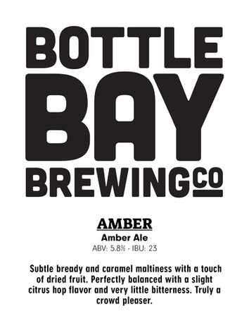 Bottle Bay Brewing Co - Amber Ale