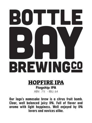 Bottle Bay Brewing Co. - Hopfire IPA