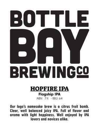 Bottle Bay Brewing Co - Hopfire IPA