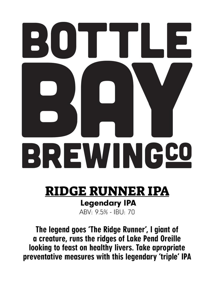 Bottle Bay Brewing Co - Ridge Runner 2X IPA